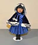 1980's Porcelain Victorian Style Doll