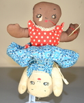 1930's Topsy-Turvy Two Race Doll