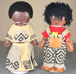 African Diaspora  Male and Female Team Dolls